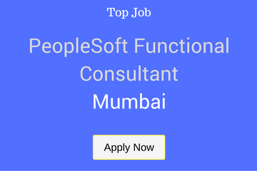 PEOPLESOFT FUNCTIONAL CONSULTANT