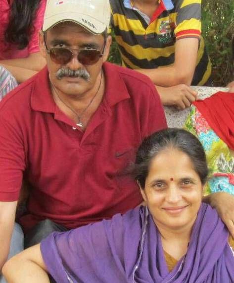 Priya with her husband