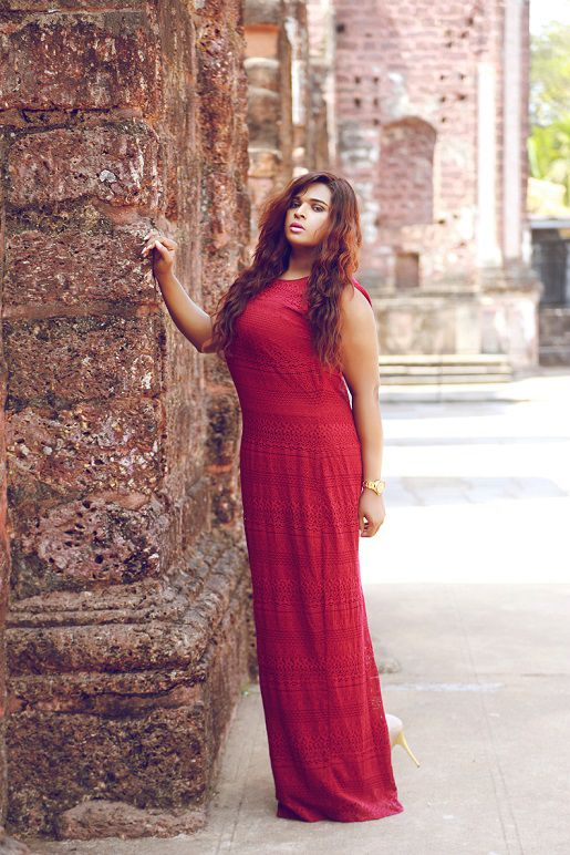 Mona Varonica Campbell, India's first and only plus size transgender model