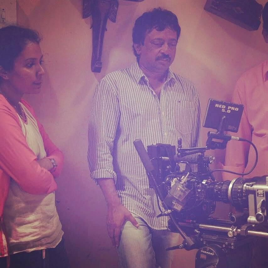 Sanjana Reddy with Ram Gopal Varma