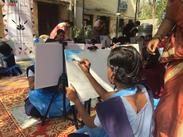 NOT JUST ART blind girls painting