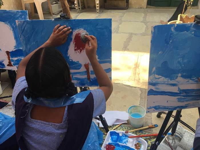 NOT JUST ART blind girls painting