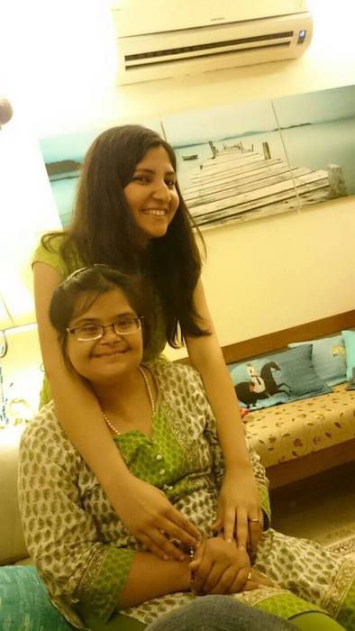 Nimmi with her sister