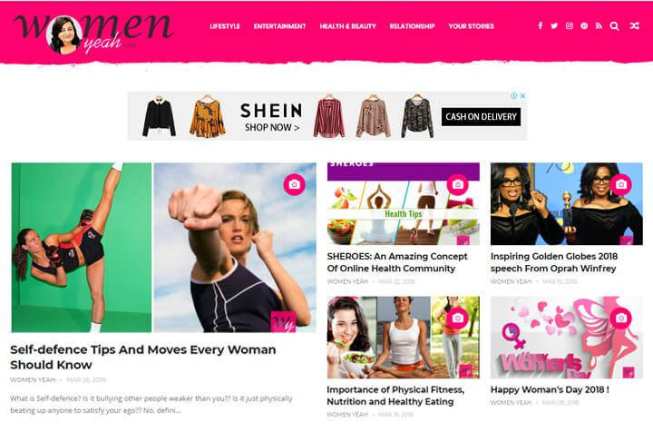 women yeah website