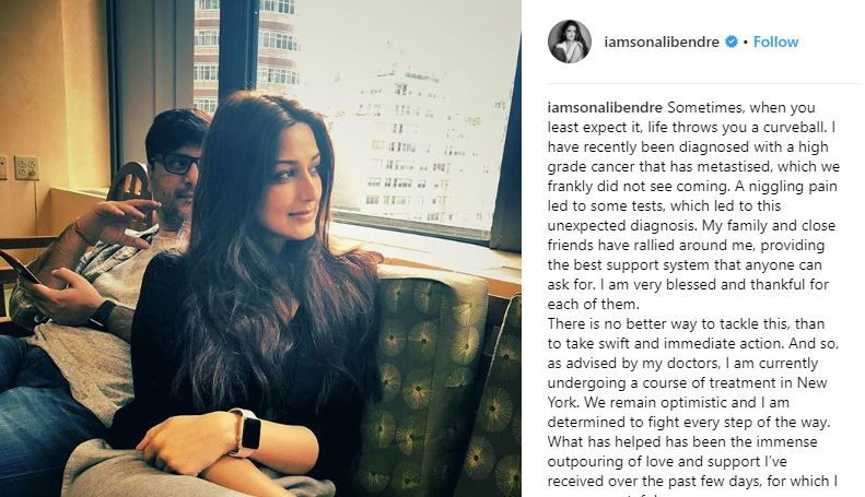 Sonali Bendre Instagram Cancer Post