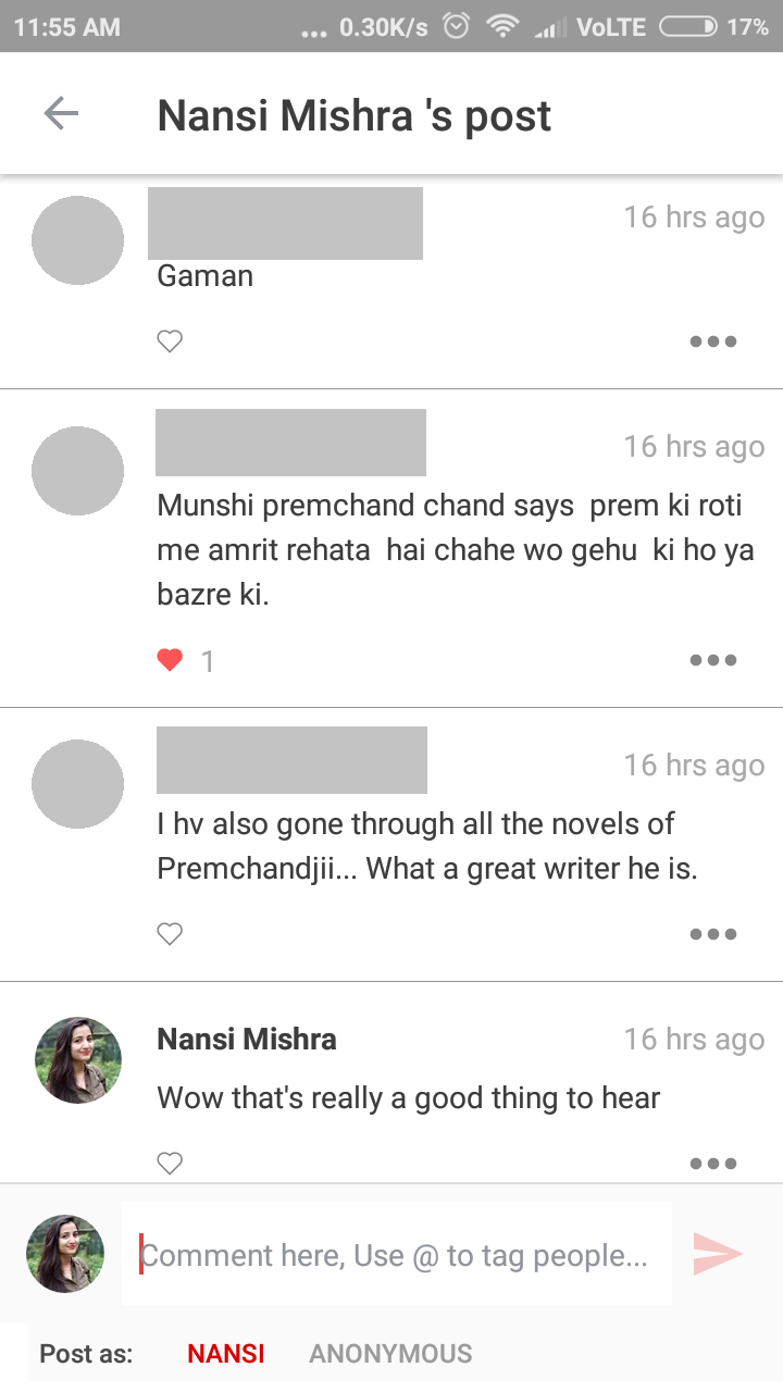 SHEROES community reaction on Munshi Premchand's birth anniversary
