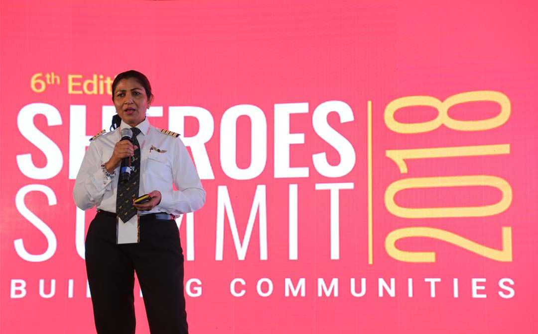 Piolet Nivedita Bhasin at SHEROES Summit 2018