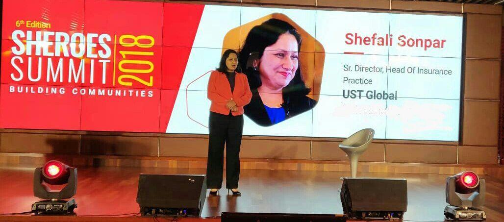 Shefali Sonpar at SHEROES Summit 2018