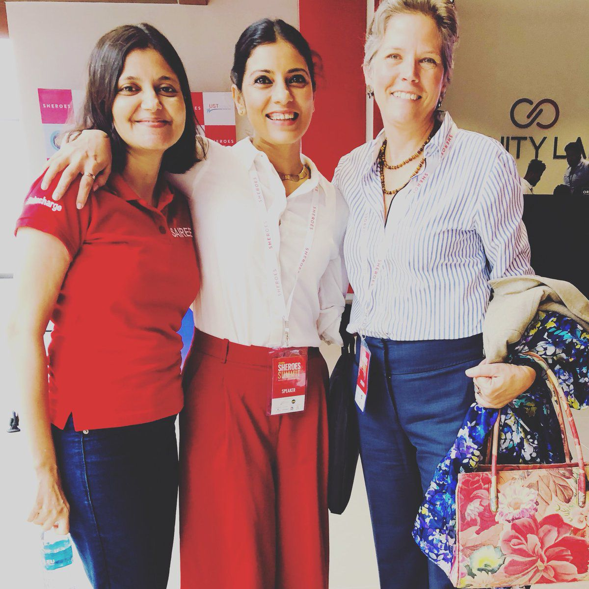 Sairee, Mitali and Alicia together at SHEROES Summit 2018