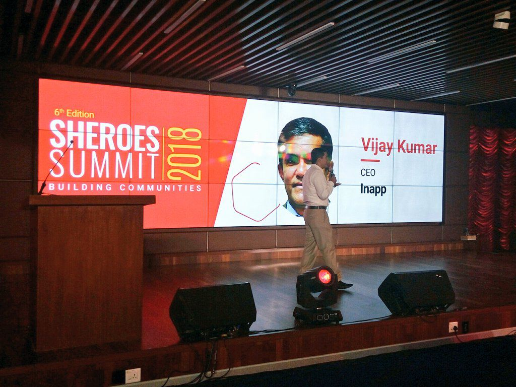 Vijay Kumar CEO at SHEROES Summit 2018