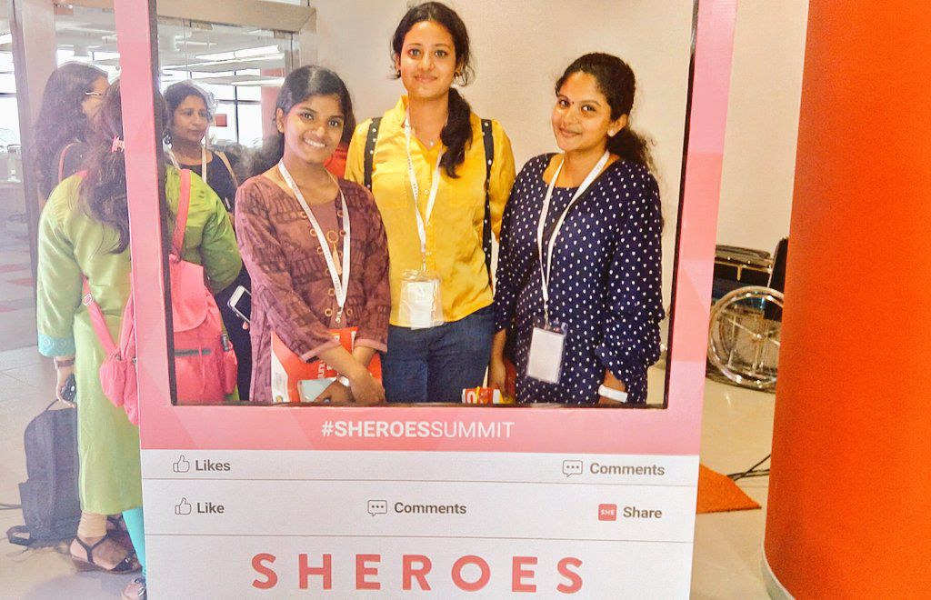 Selfie booth at SHEROES Summit 2018
