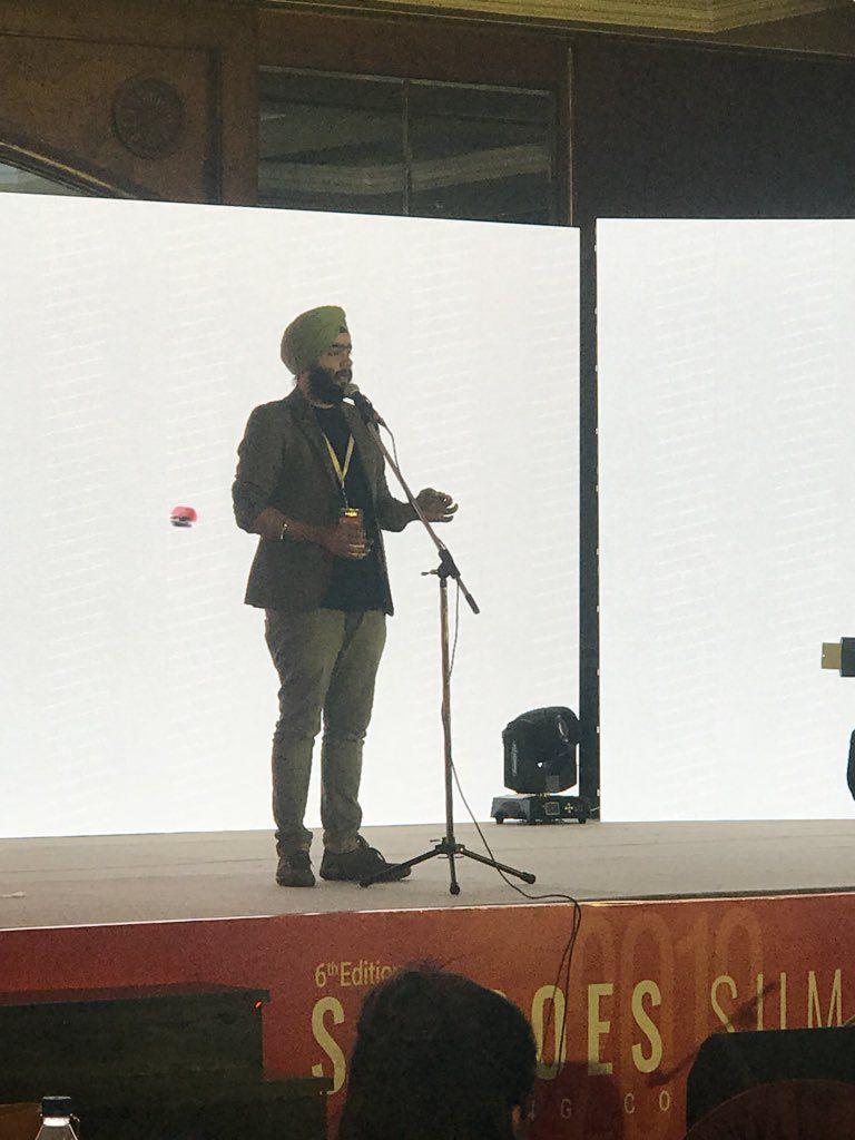 Navaldeep Singh at sheroes summit delhi