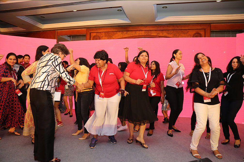 dancing at sheroes summit delhi