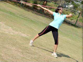 MOHUA PRACTICING JAVELIN THROW