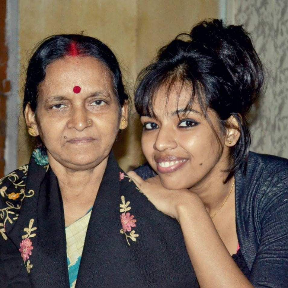 Mahua with her Mother