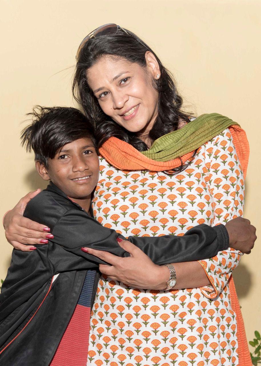 Geetanjali Chopra with a Child