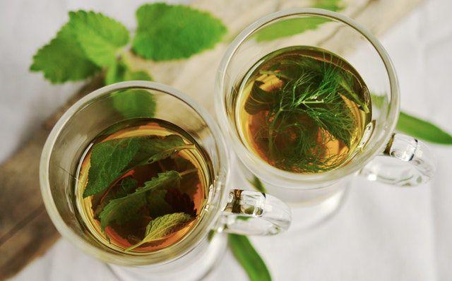 Green Tea prepared by leaves