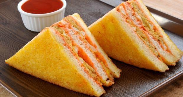 peas and potato sandwich