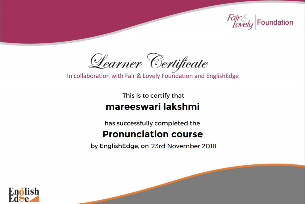 mareeswari english pronunciation course