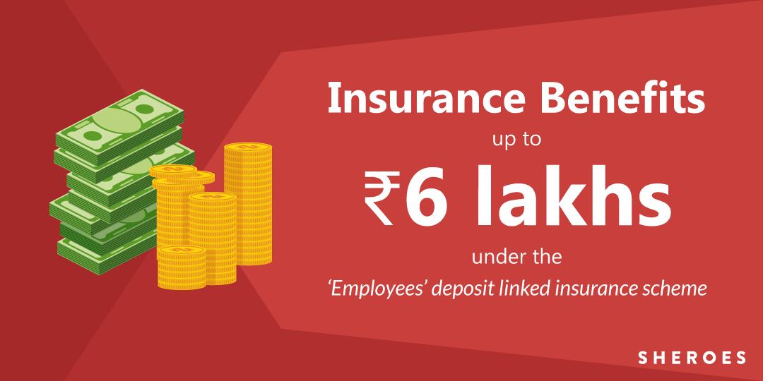 insurance benefits through pf