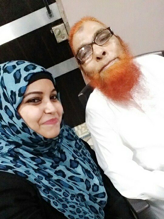 afreen with her father