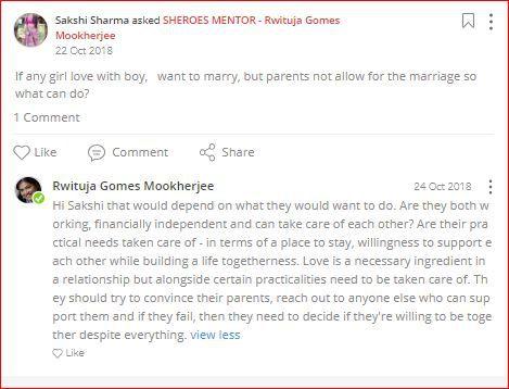 rwituja advises on love marriage