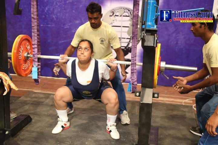 dharini at practice lfiting weights