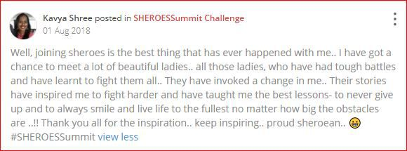 kavya writes about sheroes