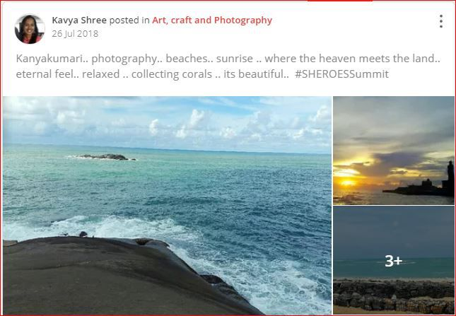 kavya travel photography post at sheroes
