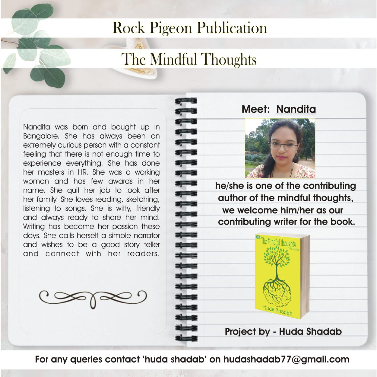 nandita's first published story
