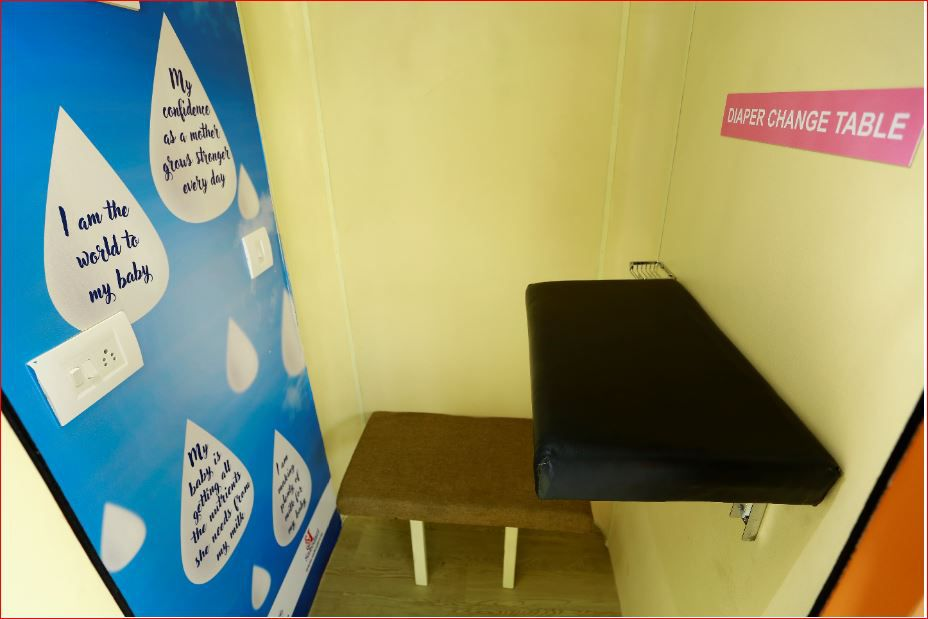 ganga shares inside view of breastfeeding pod