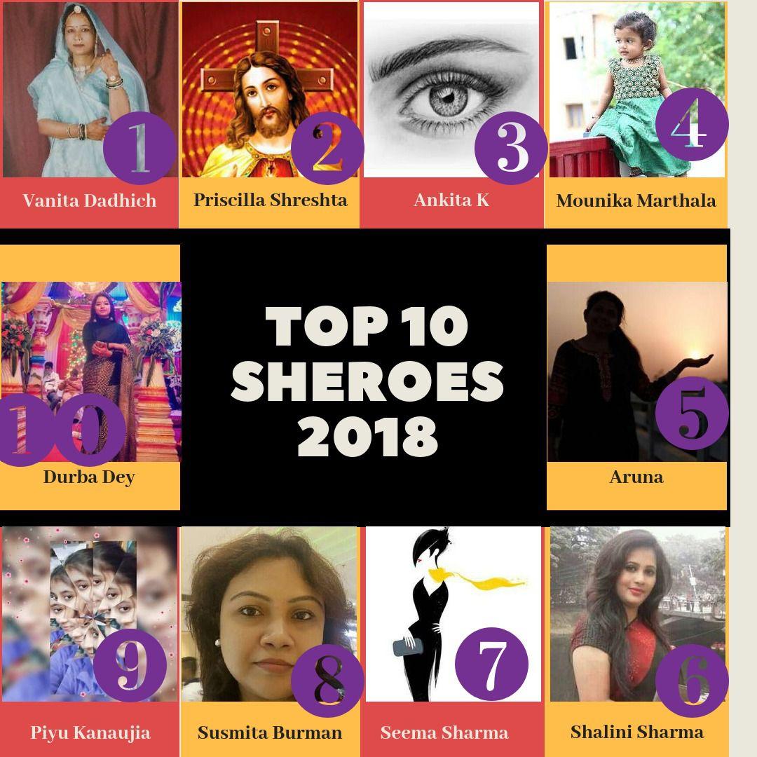 susmita as top 10 sheroes