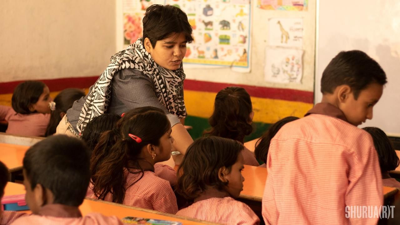 sana at workshop for primary children