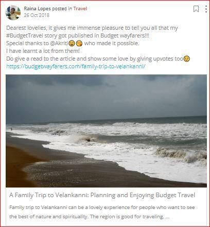 raina shares her travel story