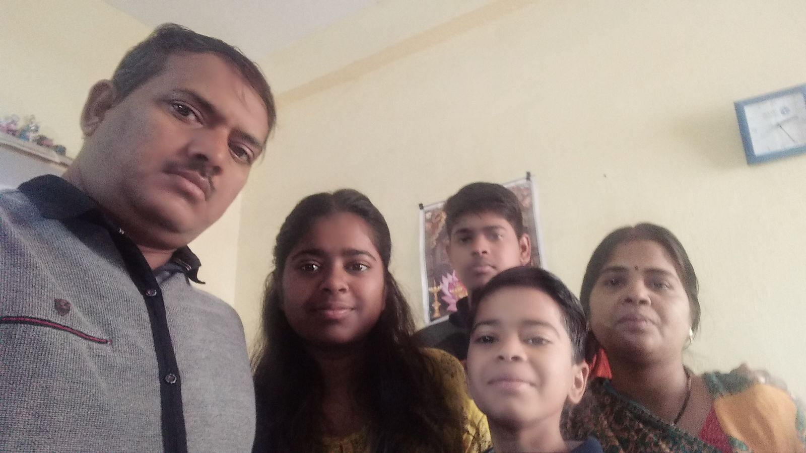 harshita with her family