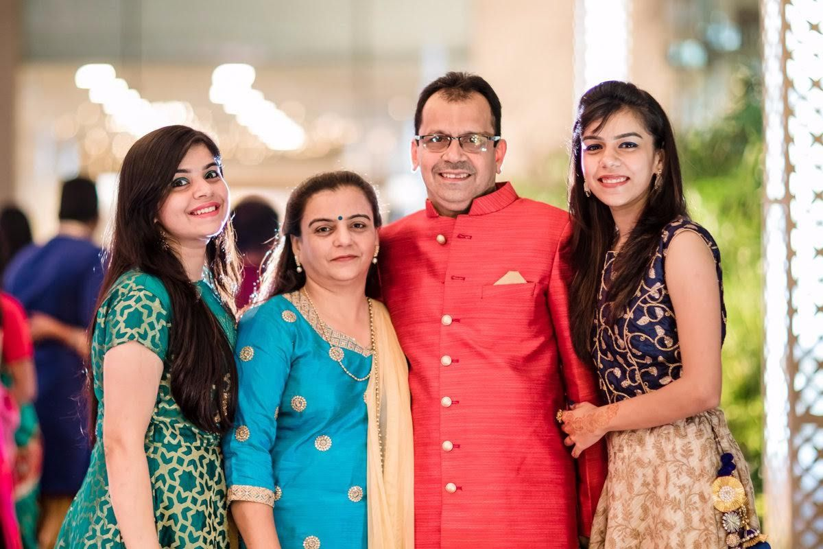 prashita with her family