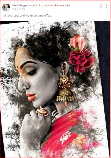 vrinda posts a woman painted