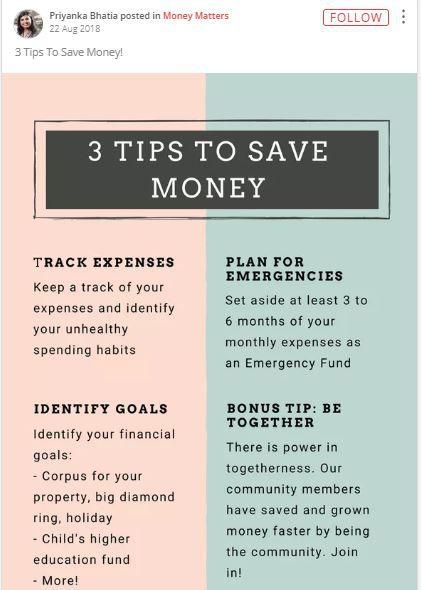 priyanka tips to save money