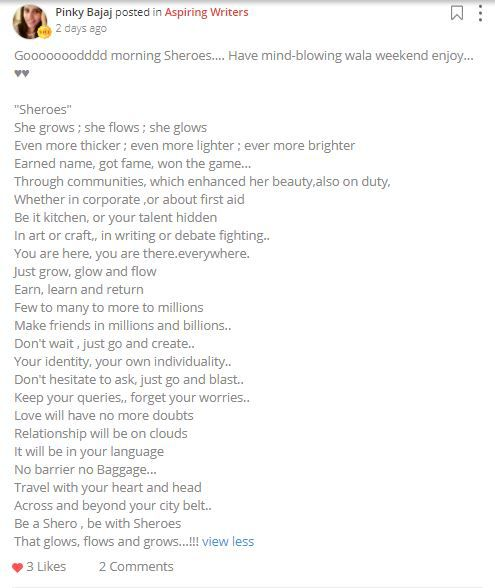 pinky bajaj poem