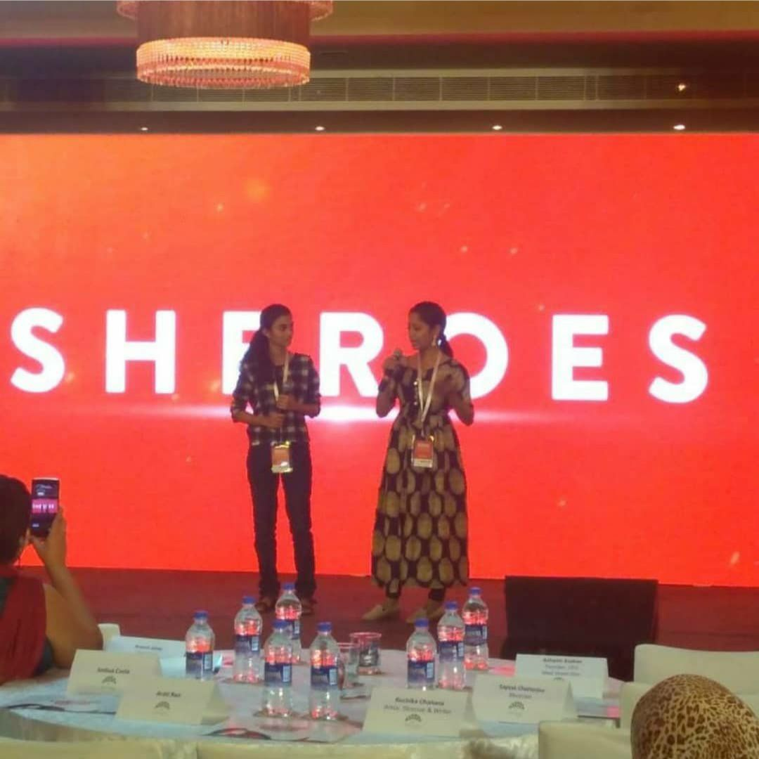 narayanee addressing women at sheroes