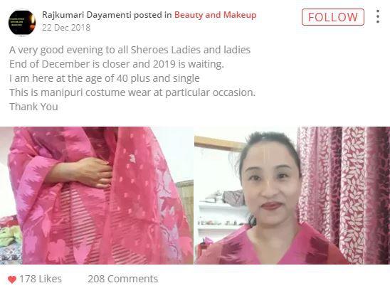 rajkumari manipuri costume