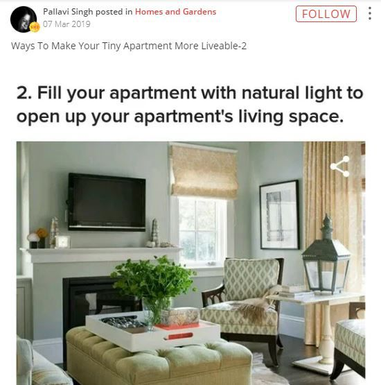 fill your apartment with natural light