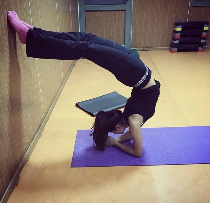 megha performing yoga