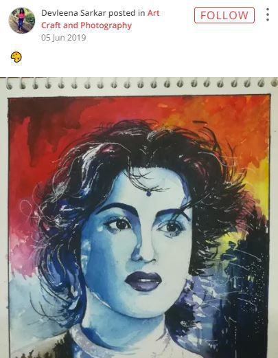 madhubala sketch by devleena