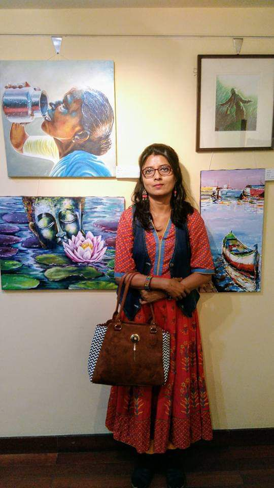 dipa and her display of multiple artworks