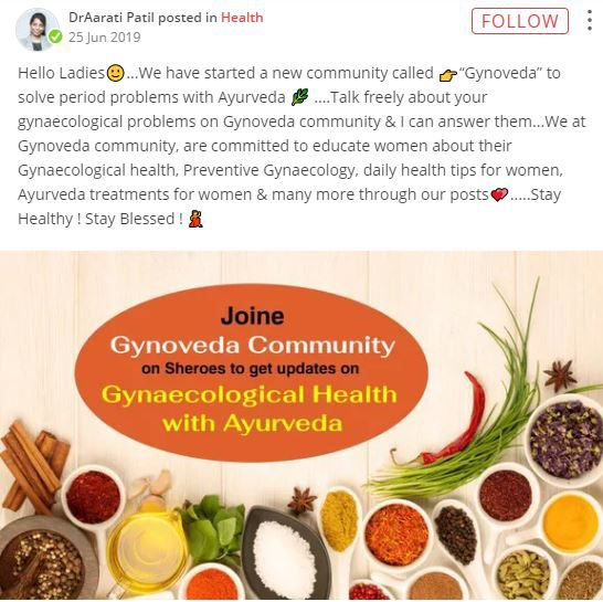 dr aarati gynaecological health with ayurveda