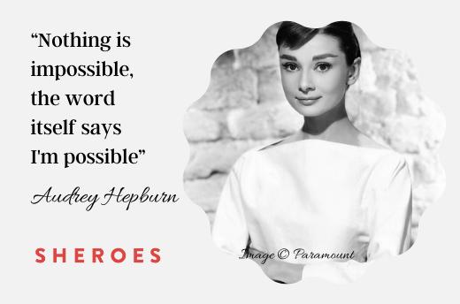 growth mindset quotes Audrey Hepburn