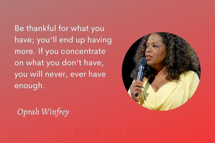 Oprah Winfrey Quote Gratitude