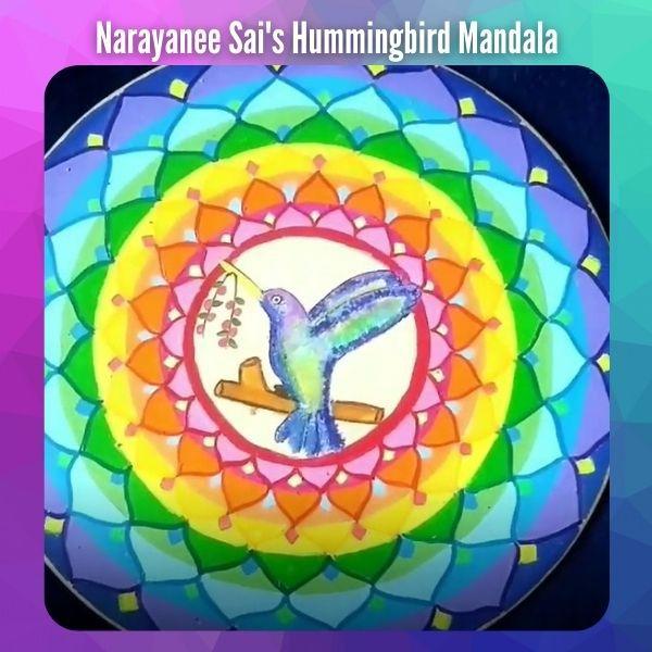 Hummingbird Mandala Painting