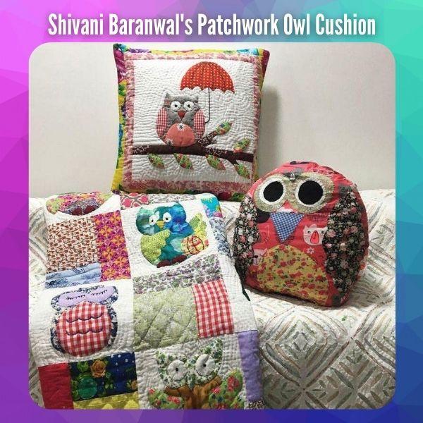 Patchwork Owl Cushion